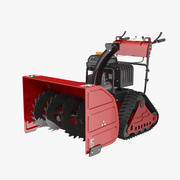 Heavy Duty Snow Blower 3d model