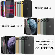 Apple iPhone 11 & 11 Pro & 11 Pro Max Collection 3d model