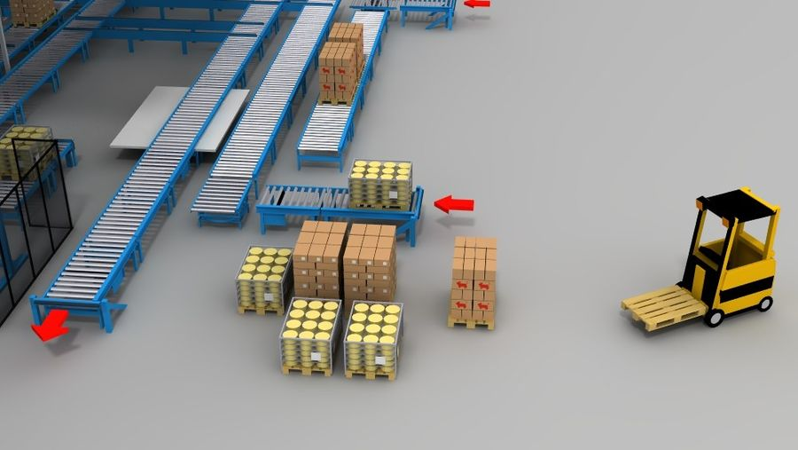 warehouse royalty-free 3d model - Preview no. 18