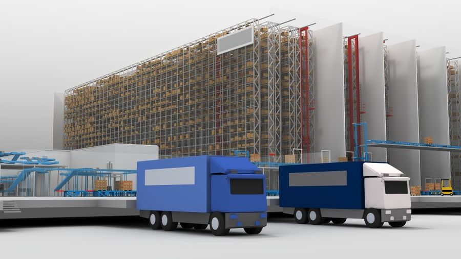 warehouse royalty-free 3d model - Preview no. 22