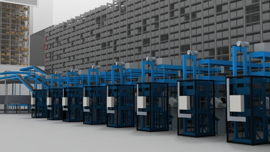 warehouse royalty-free 3d model - Preview no. 21