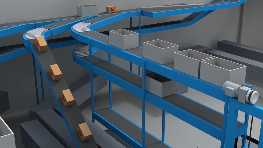 warehouse royalty-free 3d model - Preview no. 15