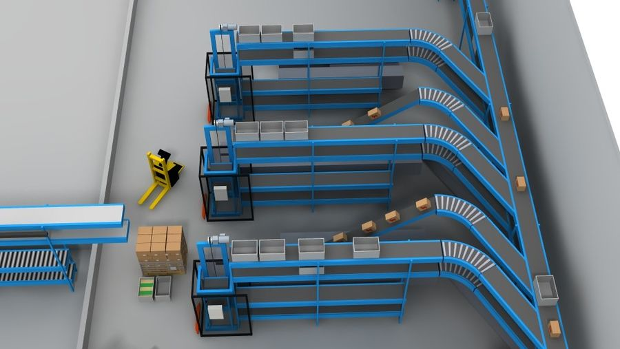 warehouse royalty-free 3d model - Preview no. 11