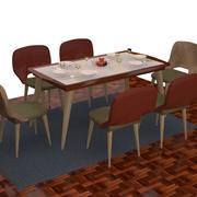 TABLE AND CHA?RS SET 3d model