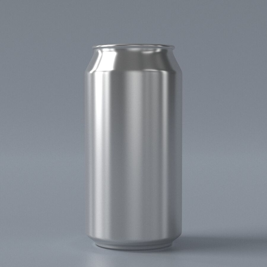 Aluminum can royalty-free 3d model - Preview no. 2