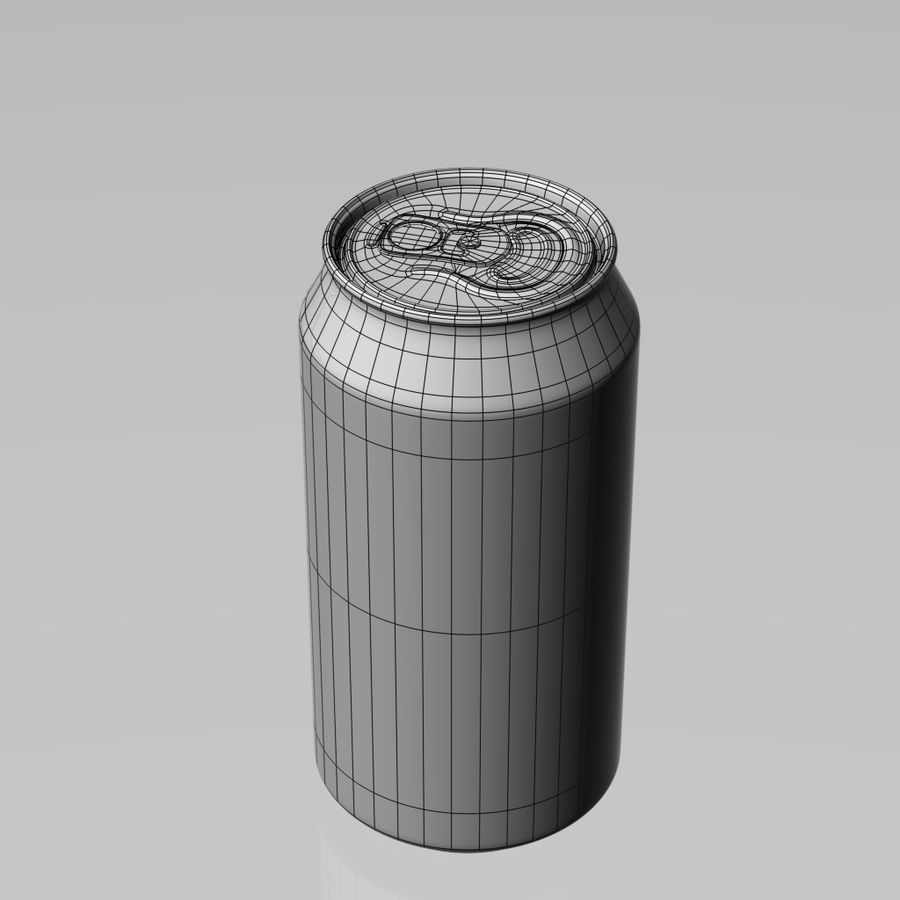 Aluminum can royalty-free 3d model - Preview no. 4