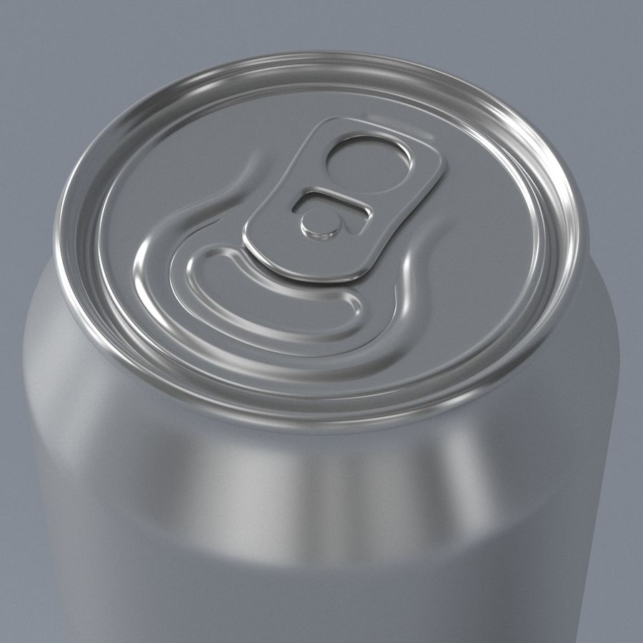 Aluminum can royalty-free 3d model - Preview no. 3