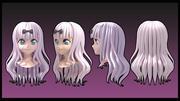 Estilo de cabelo chika fujiwara 3d model