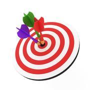 Juego de tablero de dardos modelo 3d