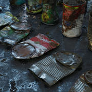 Mülleimer Lebensmittel 6 Typen - 3D Asset Kit PBR 3d model