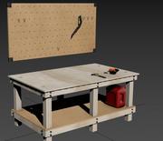 Comprar mesa y tablero de clavijas modelo 3d