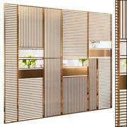 Decorative partition set 18 3d model