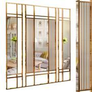 Decorative partition set 20 3d model