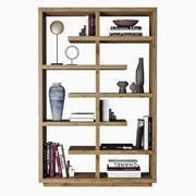 Boekenkasten met boeken 3d model