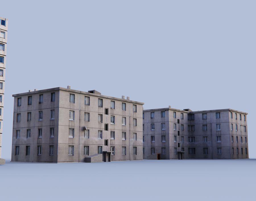 düşük poli Rus evleri royalty-free 3d model - Preview no. 2
