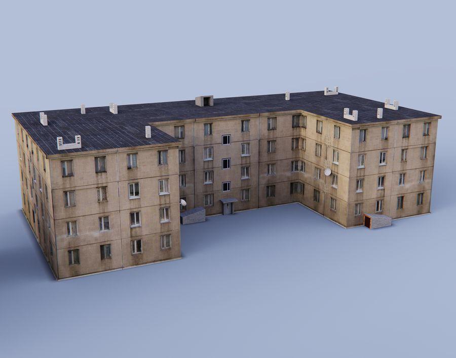 düşük poli Rus evleri royalty-free 3d model - Preview no. 3