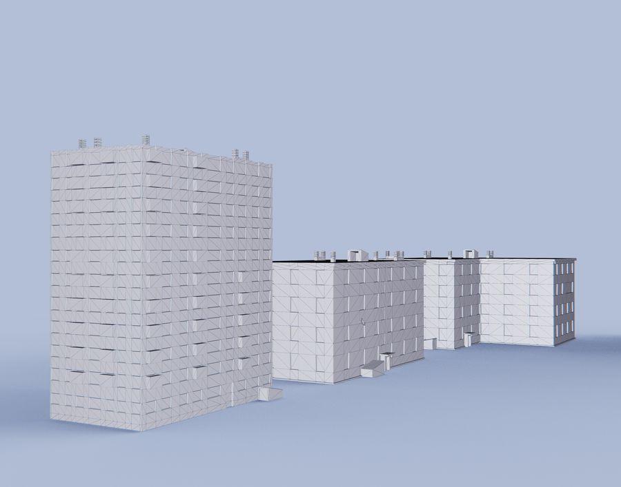 düşük poli Rus evleri royalty-free 3d model - Preview no. 6