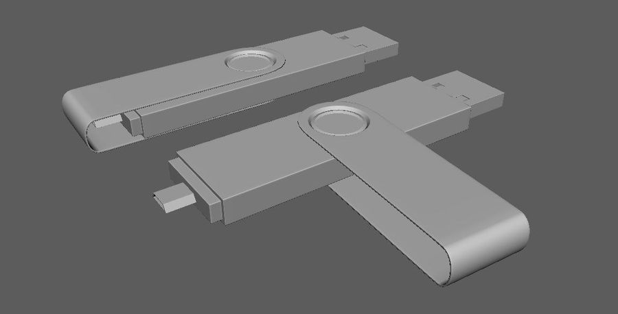 USB Flash Drive royalty-free 3d model - Preview no. 1