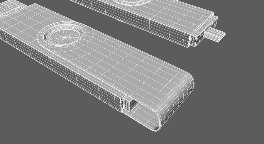 USB Flash Drive royalty-free 3d model - Preview no. 3