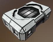 HiTech SciFi AmmoBox 3 Küçük 3d model
