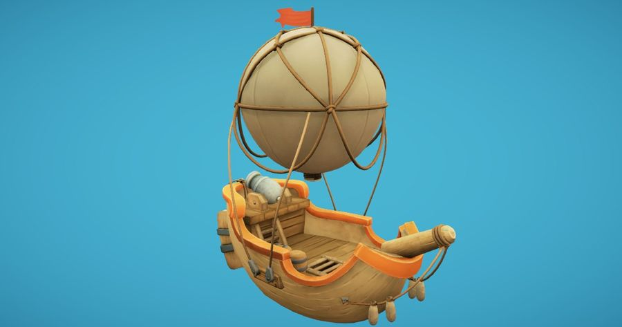 Balloon Boat royalty-free 3d model - Preview no. 5
