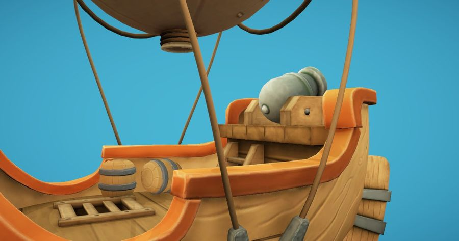 Balloon Boat royalty-free 3d model - Preview no. 3