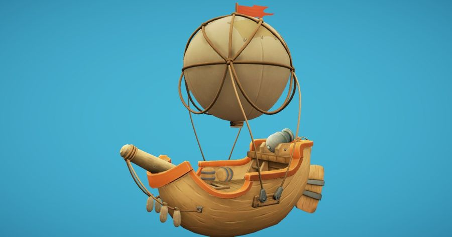 Balloon Boat royalty-free 3d model - Preview no. 4