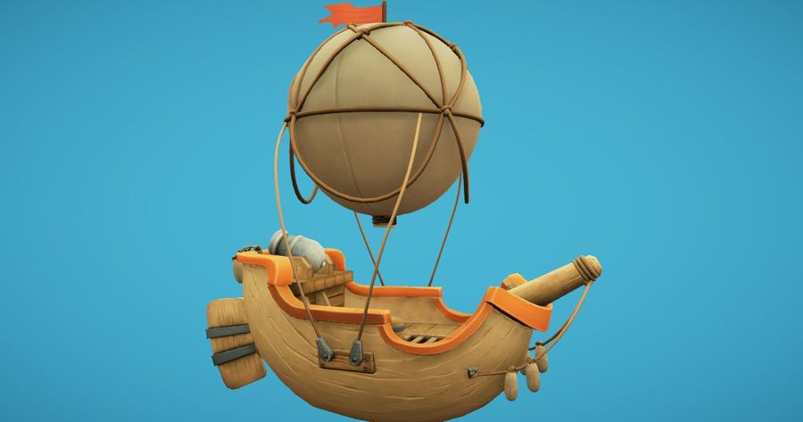 Balloon Boat royalty-free 3d model - Preview no. 1