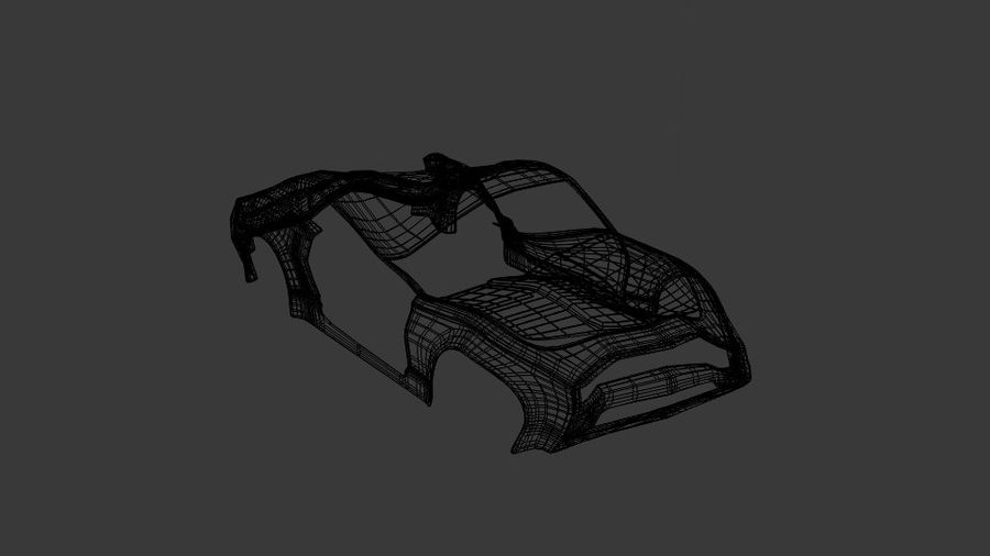 Muscle Car Wreck royalty-free 3d model - Preview no. 5