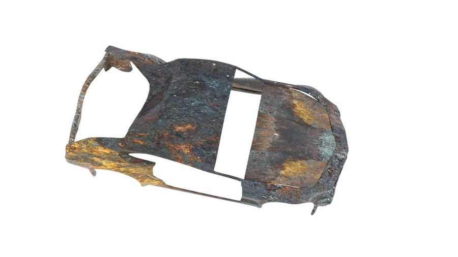 Muscle Car Wreck royalty-free 3d model - Preview no. 6