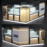 kiosque de centre commercial 3d model