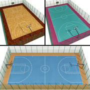 Basketball Courts 3d model