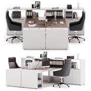 Área de trabalho do escritório LAS LOGIC v6 3d model