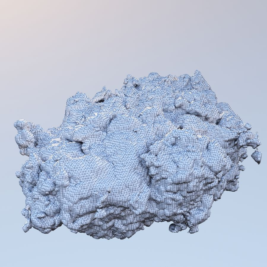 Polygon Cloud 2 royalty-free 3d model - Preview no. 7
