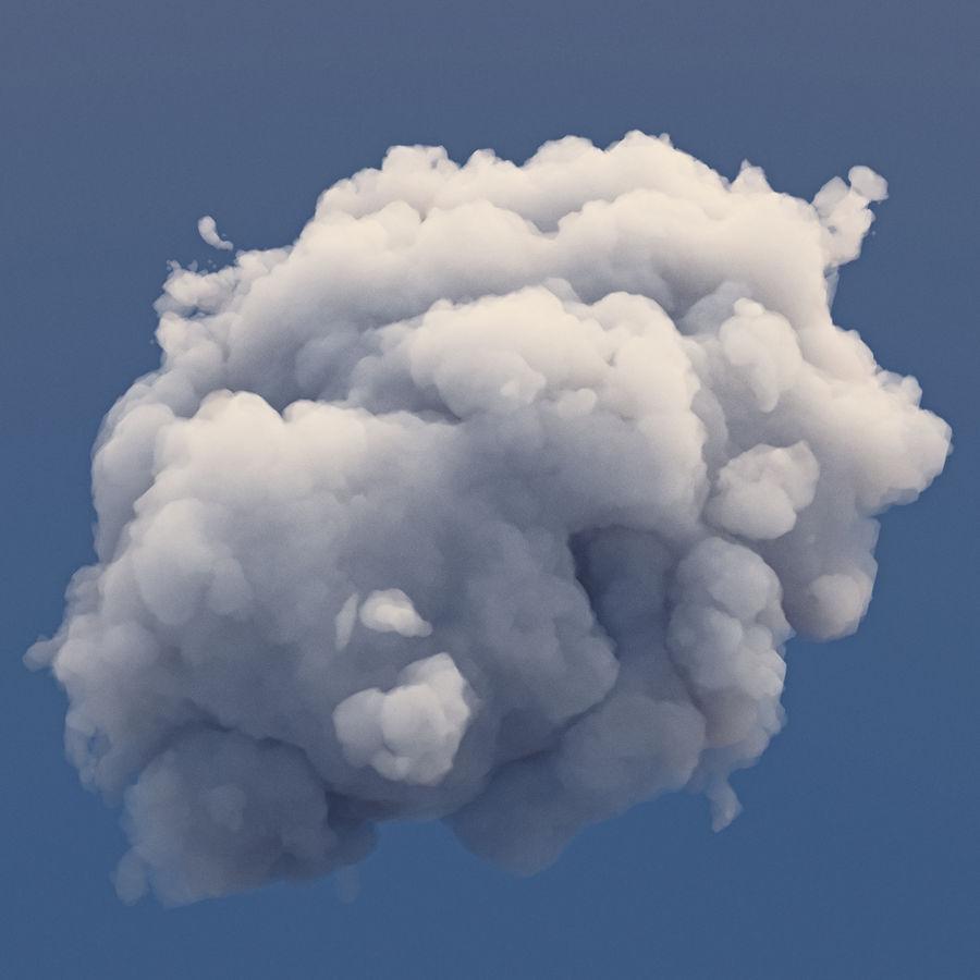 Polygon Cloud 2 royalty-free 3d model - Preview no. 6