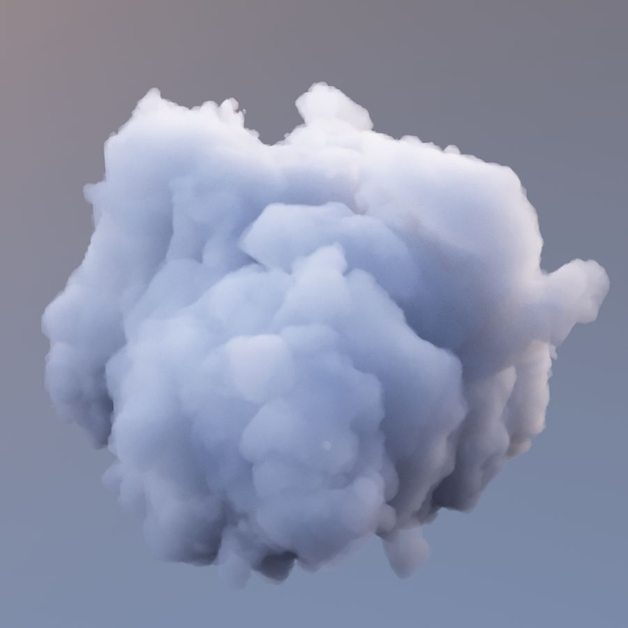 Polygon Cloud 7 royalty-free modelo 3d - Preview no. 4