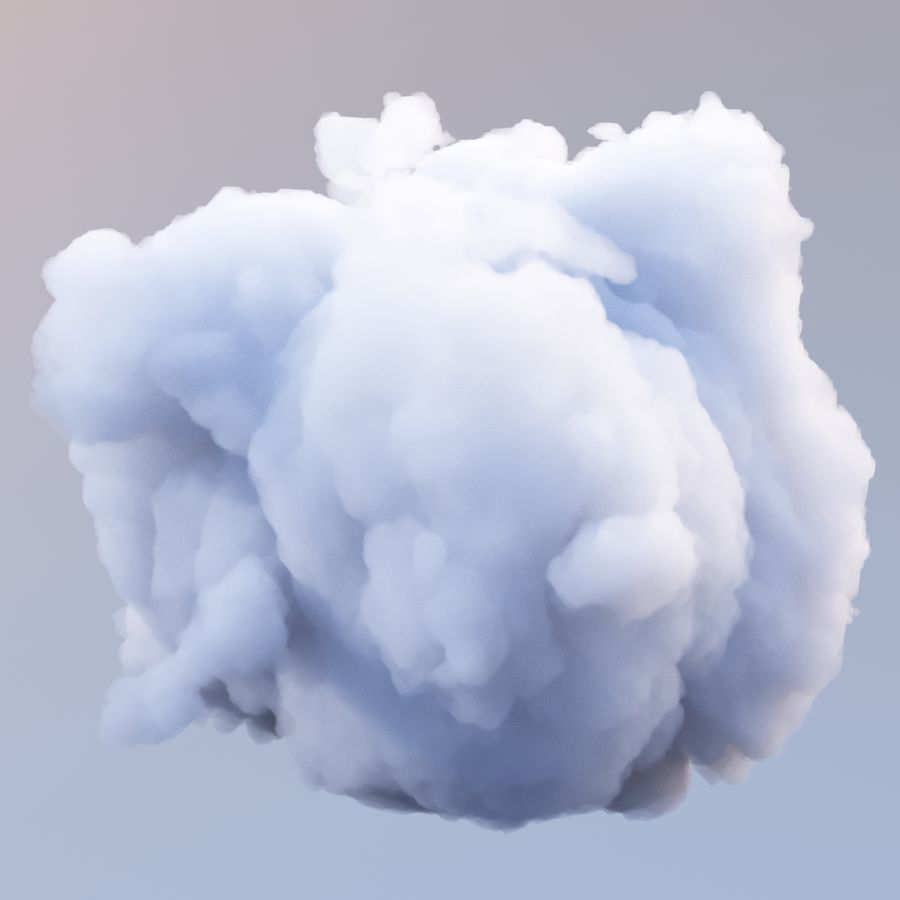 Polygon Cloud 7 royalty-free modelo 3d - Preview no. 5