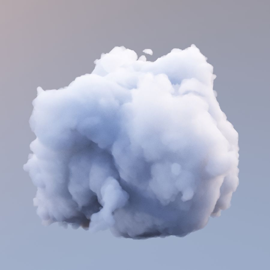 Polygon Cloud 7 royalty-free modelo 3d - Preview no. 2