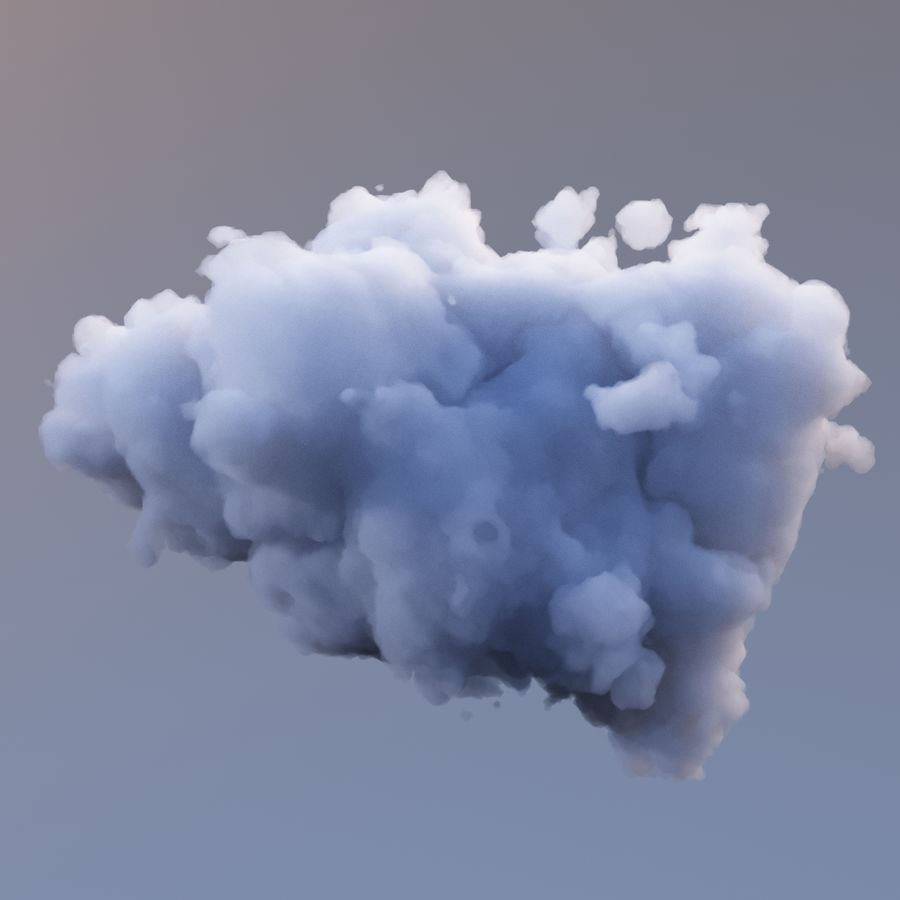 Polygon Cloud 7 royalty-free modelo 3d - Preview no. 3