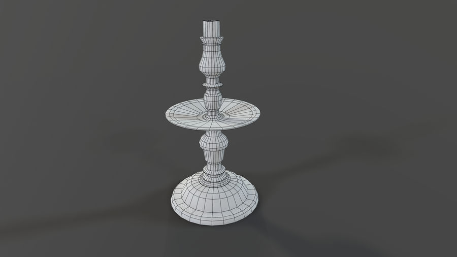 Candlestick with Candle royalty-free 3d model - Preview no. 12