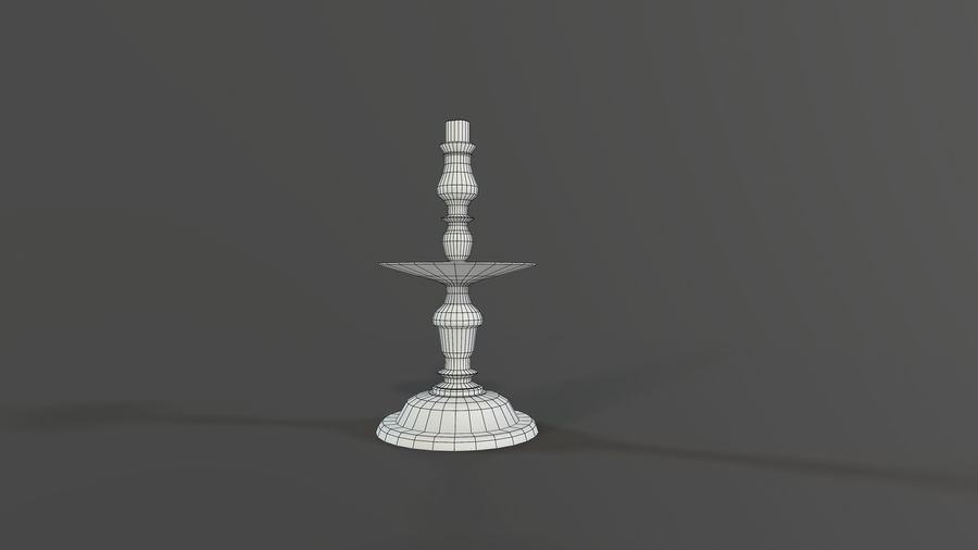 Candlestick with Candle royalty-free 3d model - Preview no. 8