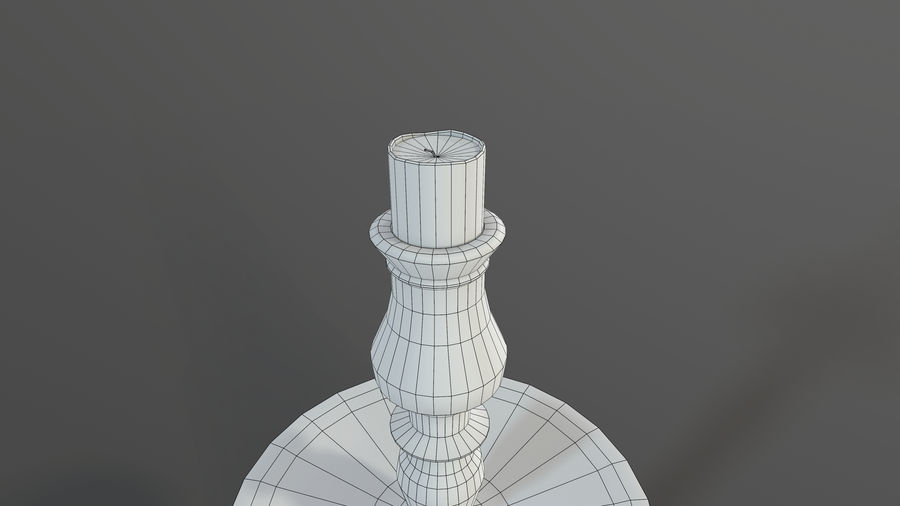 Candlestick with Candle royalty-free 3d model - Preview no. 10