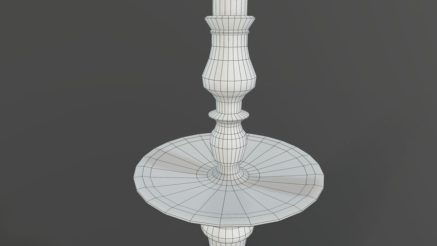Candlestick with Candle royalty-free 3d model - Preview no. 9