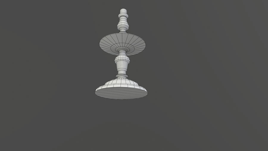 Candlestick with Candle royalty-free 3d model - Preview no. 11