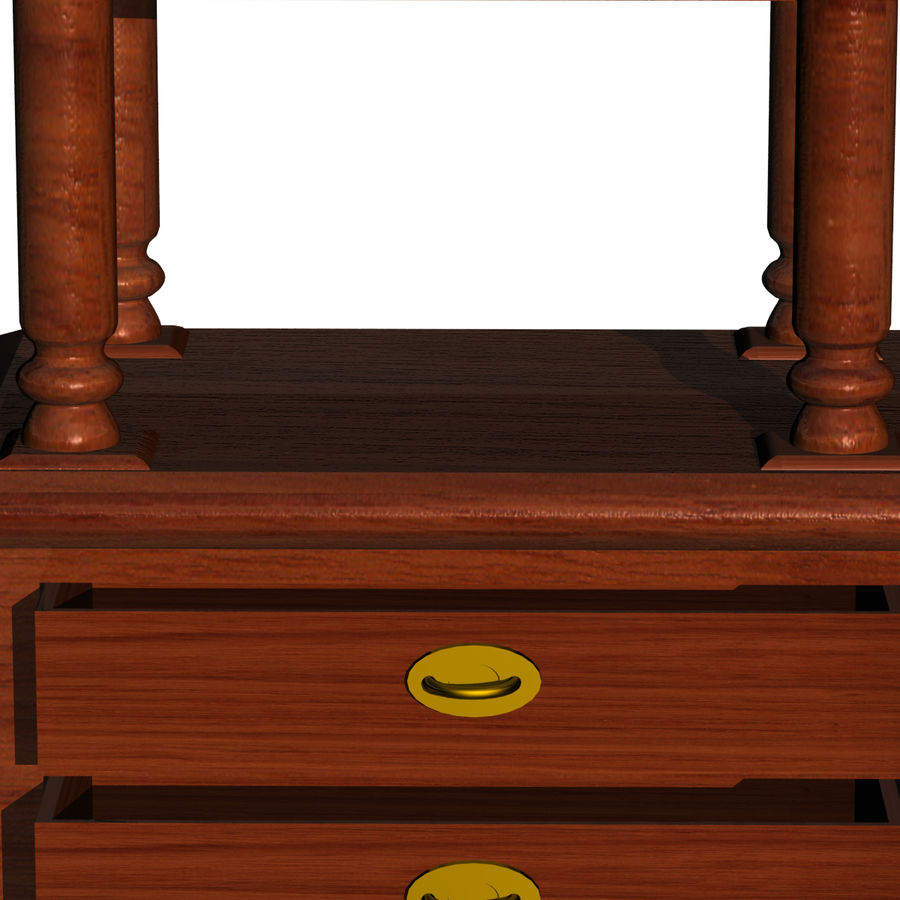 Meuble etagere royalty-free 3d model - Preview no. 6