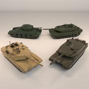 Low Tank Tank Pack 01 modelo 3d