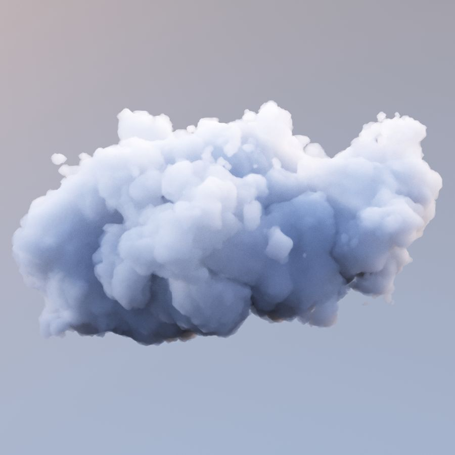 Polygon Cloud 9 royalty-free 3d model - Preview no. 3