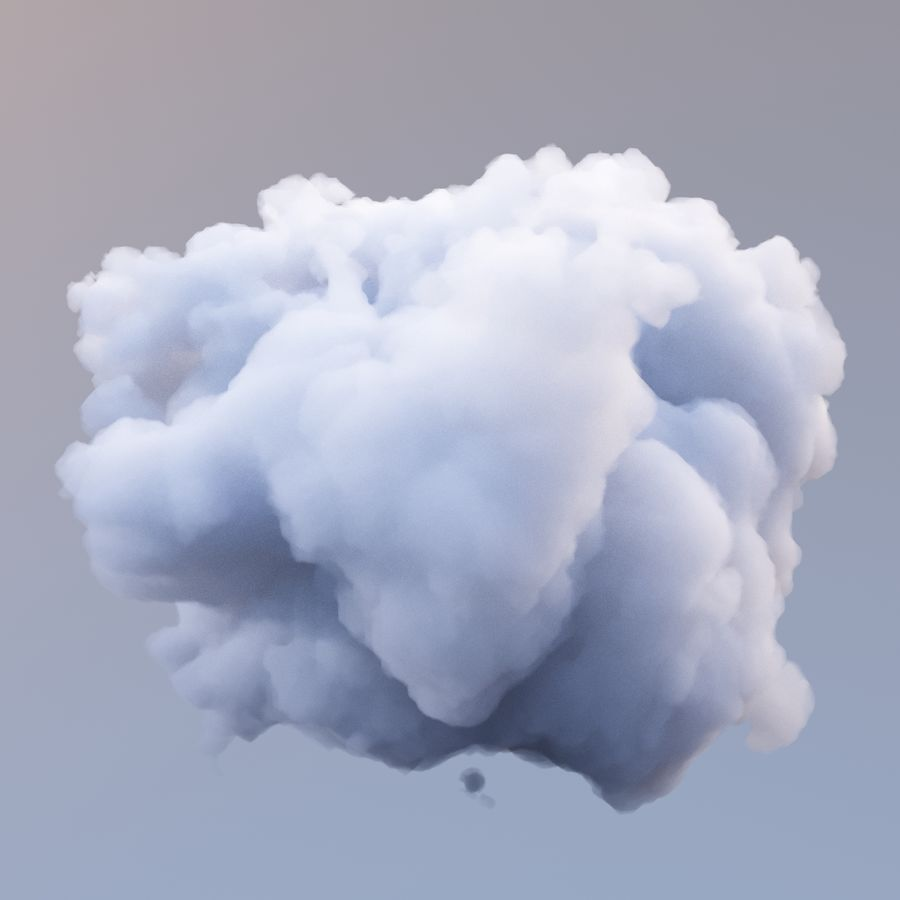 Polygon Cloud 9 royalty-free 3d model - Preview no. 4