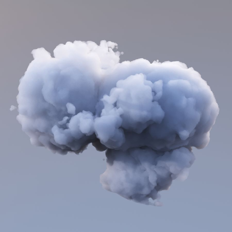 Nuage de polygone 10 royalty-free 3d model - Preview no. 4