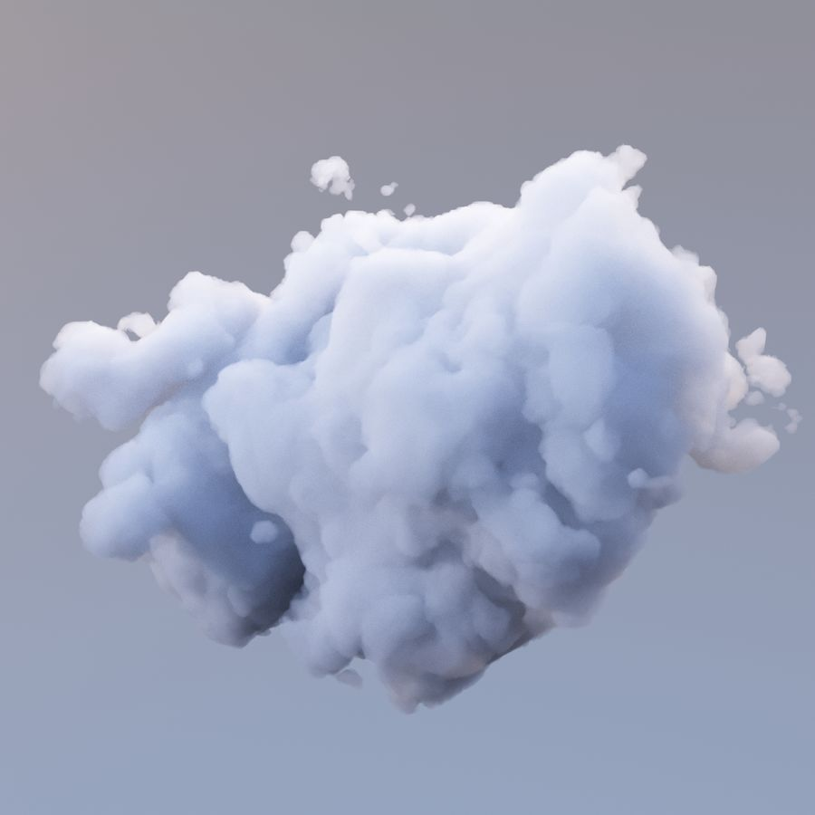 Nuage de polygone 10 royalty-free 3d model - Preview no. 3